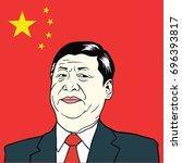 xi jinping  president of people'...   Shutterstock .eps vector #696393817