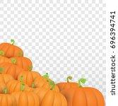 Autumn Vector Orange Pumpkins...