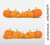 Autumn Vector Orange Pumpkins...