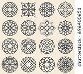 arabesque ornaments. star logo... | Shutterstock . vector #696400651