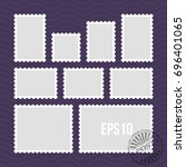 postage stamps with perforated... | Shutterstock . vector #696401065