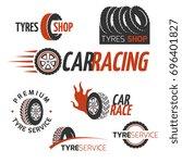 automobile rubber tire shop ... | Shutterstock . vector #696401827