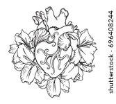 stylized anatomical human... | Shutterstock .eps vector #696408244
