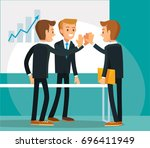 vector illustration with the... | Shutterstock .eps vector #696411949
