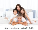 happy family looking at the... | Shutterstock . vector #69641440