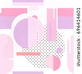 pink abstract memphis style... | Shutterstock .eps vector #696414601