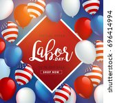 labor day sale promotion... | Shutterstock .eps vector #696414994