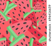 flat water melon seamless