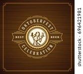 oktoberfest beer festival...   Shutterstock .eps vector #696421981