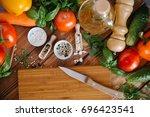 vegetables | Shutterstock . vector #696423541