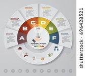 6 steps process. simple... | Shutterstock .eps vector #696428521