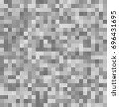 pixel square tile mosaic... | Shutterstock .eps vector #696431695