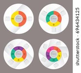 circle infographic template pie ... | Shutterstock .eps vector #696434125