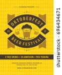 oktoberfest beer festival...   Shutterstock .eps vector #696434671