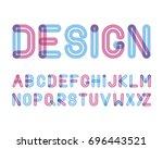 vector of modern stylized... | Shutterstock .eps vector #696443521