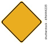 yellow blank sign isolated on... | Shutterstock .eps vector #696444235