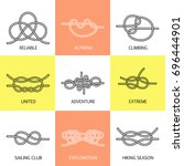 vector icons of sea knot... | Shutterstock .eps vector #696444901