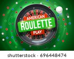 casino roulette wheel with... | Shutterstock .eps vector #696448474