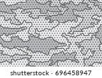 urban camouflage seamless... | Shutterstock .eps vector #696458947