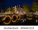 night shot of the city  many... | Shutterstock . vector #696461215
