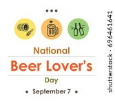 vector illustration for beer... | Shutterstock .eps vector #696461641