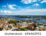 aerial view of riga city center ... | Shutterstock . vector #696463951