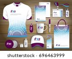 gift items  color promotional... | Shutterstock .eps vector #696463999