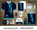 gift items  color promotional... | Shutterstock .eps vector #696464005