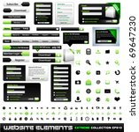 web design elements extreme... | Shutterstock .eps vector #69647230