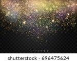 vector glamour fashion... | Shutterstock .eps vector #696475624