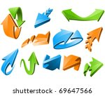 three dimensional arrow signs... | Shutterstock .eps vector #69647566