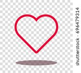 heart love valentine icon... | Shutterstock .eps vector #696479314