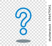 question help ask icon vector... | Shutterstock .eps vector #696479341
