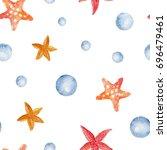 watercolor seamless pattern... | Shutterstock . vector #696479461