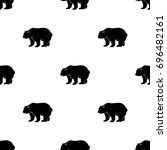 canadian brown bear. canada... | Shutterstock . vector #696482161