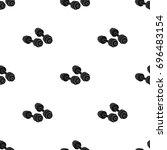 dumbbells icon in black style... | Shutterstock . vector #696483154