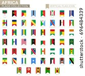vertical flag icon of africa....   Shutterstock .eps vector #696484339