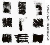 distress smer ink texture set.... | Shutterstock .eps vector #696489697