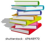 stack of multicolor books on... | Shutterstock .eps vector #69648970