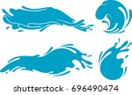 water formation set | Shutterstock .eps vector #696490474