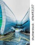 terminal 2 dublin airport ... | Shutterstock . vector #696492157