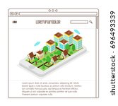 real estate website  isometric...