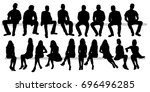 vector  isolated set of... | Shutterstock .eps vector #696496285