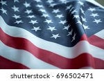 crumpled of united states of... | Shutterstock . vector #696502471