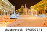 bulgaria sofia  beautiful night ... | Shutterstock . vector #696503341