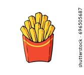 vector illustration. french... | Shutterstock .eps vector #696505687