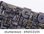 historical letterpress types ... | Shutterstock . vector #696513154