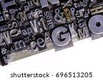 historical letterpress types ... | Shutterstock . vector #696513205