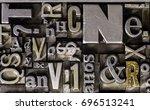 historical letterpress types ... | Shutterstock . vector #696513241