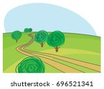 rural road  | Shutterstock .eps vector #696521341